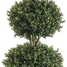 Silk-Decor-4-Feet-Tri-Ball-Boxwood-Topiary-Plant-1