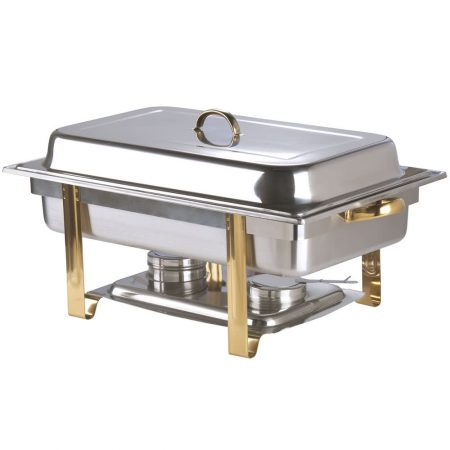 Stainless-Chafer-with-Gold-Handles-8-Qts.
